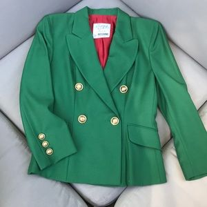 Cheap and chic by Moschino green blazer